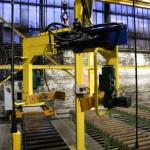 Pince de préhension et de rotation de moules en sable vert / machines speciales Close